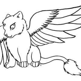 268x268 Cat Coloring Pages Free Printable Coloring Pages Angeldesign Cat