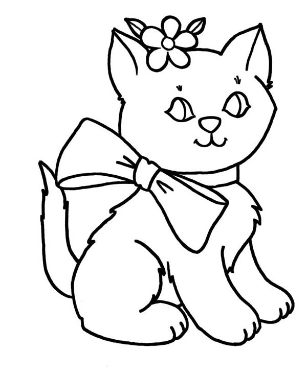 600x734 Amazing Kitty Cat Coloring Pages 86 On Gallery Coloring Ideas