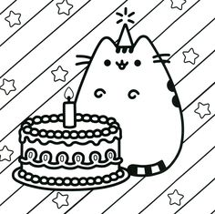 236x235 Pusheen Coloring Book Pusheen Pusheen The Cat Kawaii Coloring