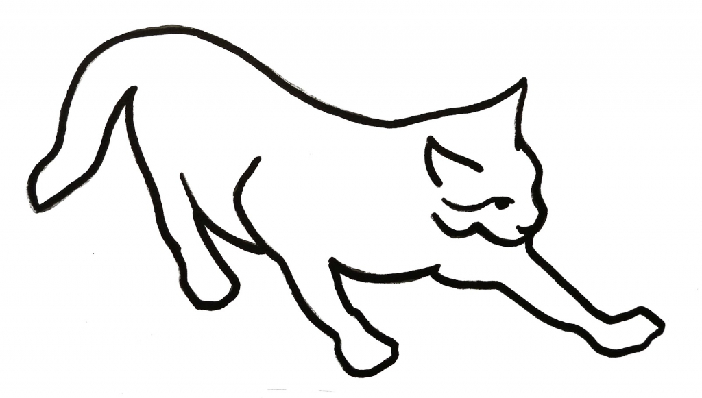 1024x581 Simple Drawing Of Cat Art For Kids How To Draw A Kitten Drawing