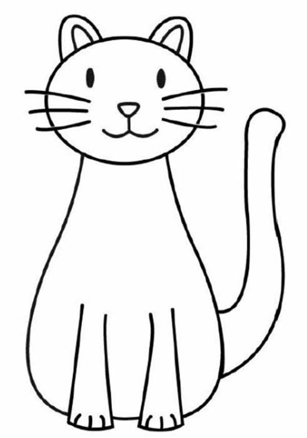 600x855 Coloring Pages Gorgeous Cat Drawings For Kids Drawing Coloring