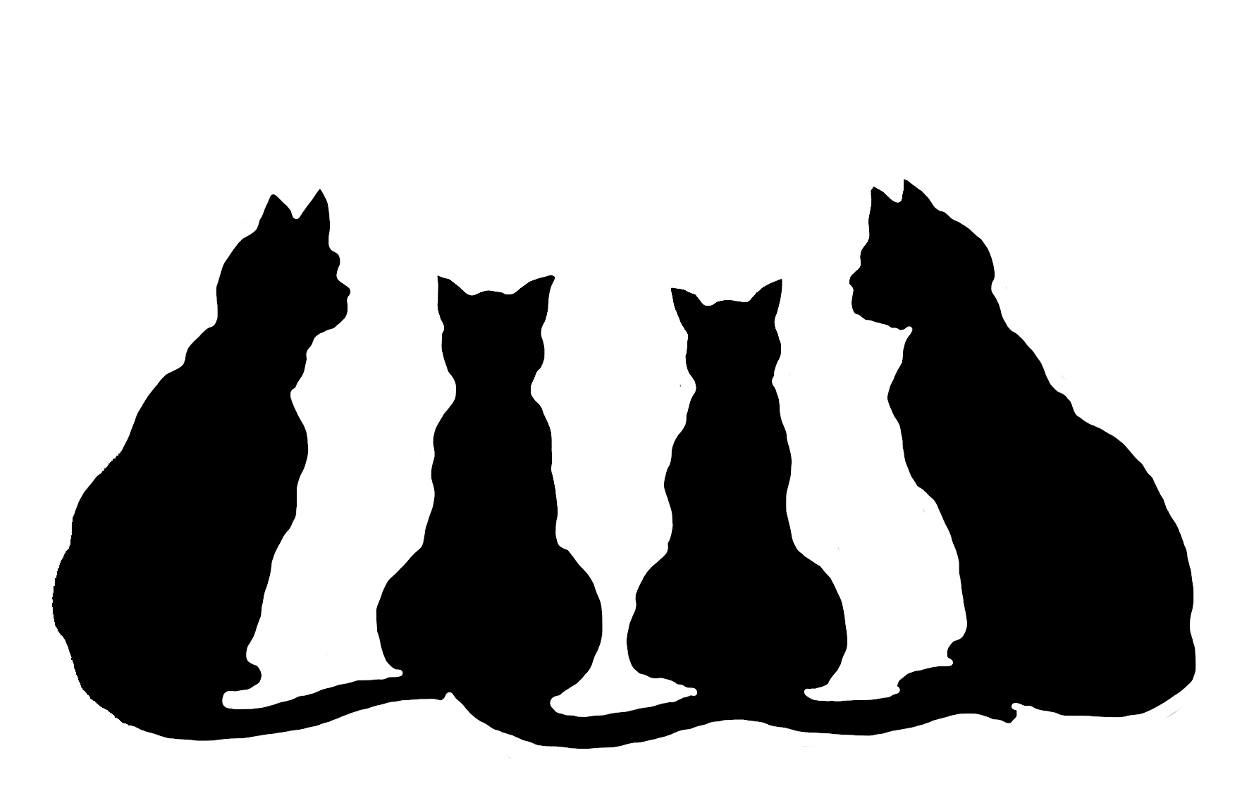 1762x1150 Line Art Clipart Simple Cat