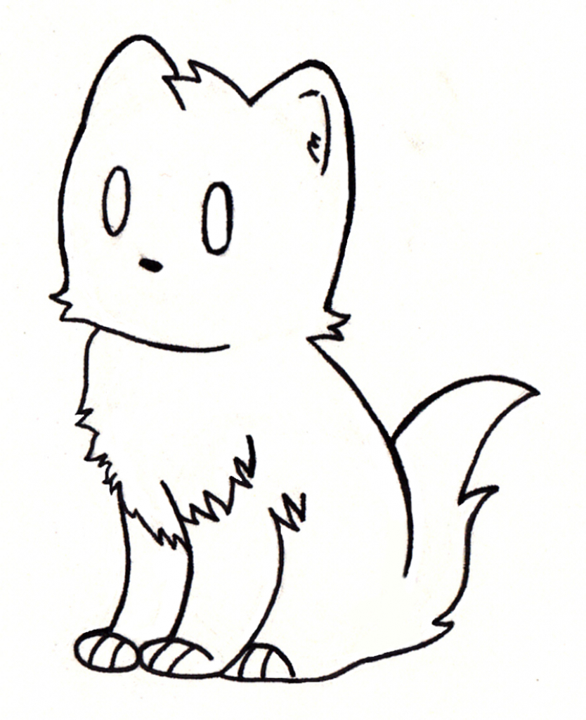 834x1024 Simple Cat Drawings
