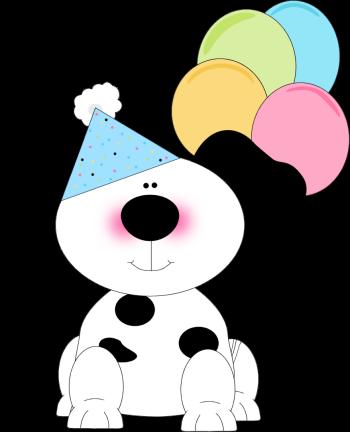 350x432 Cute Birthday Dog Clip Art