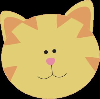 320x318 Yellow Cat Face Clip Art