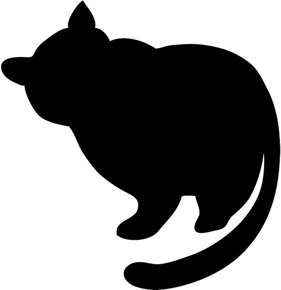 564x582 Fat Black Cat Silhouette Clipart Silhouette Clip