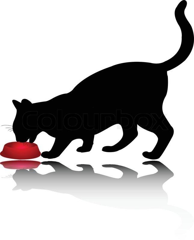 646x800 Cat Eating Clip Art Cliparts