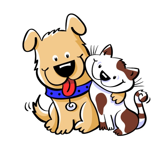 531x500 Dogs And Cats Clipart