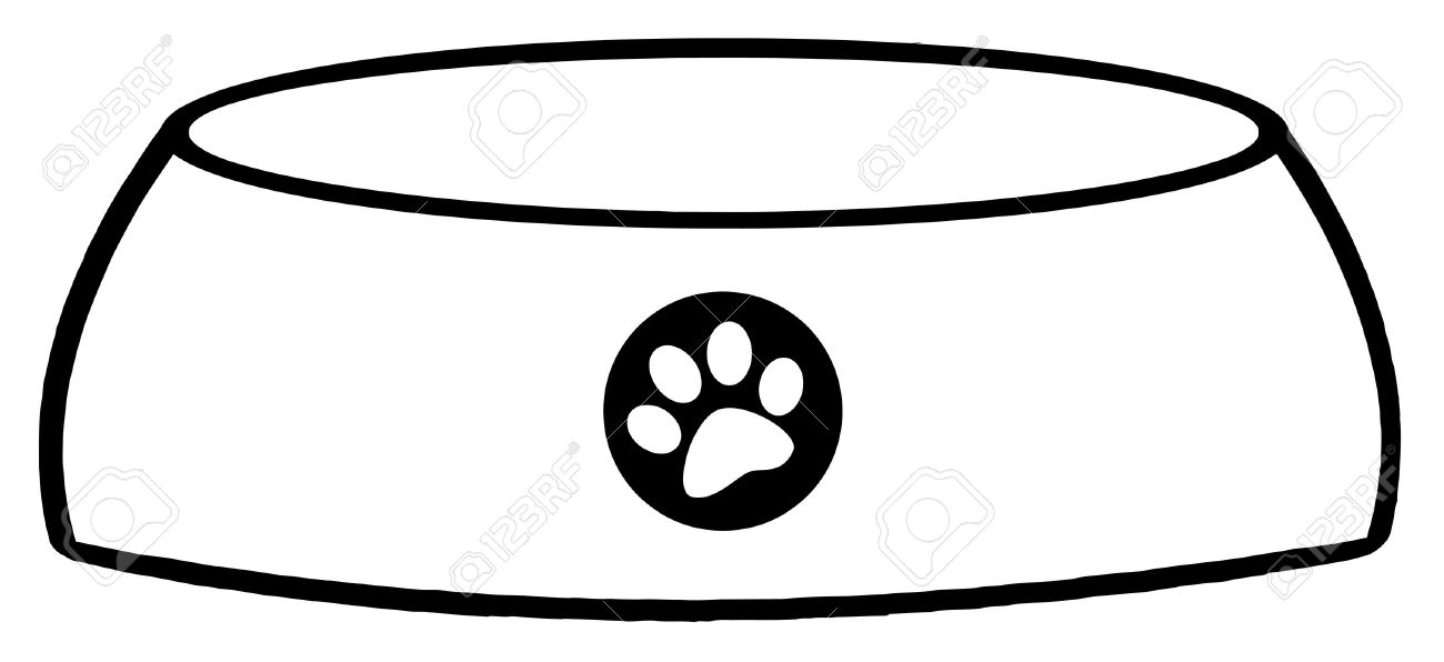 1300x596 Outlined Empty Dog Bowl Royalty Free Cliparts, Vectors, And Stock