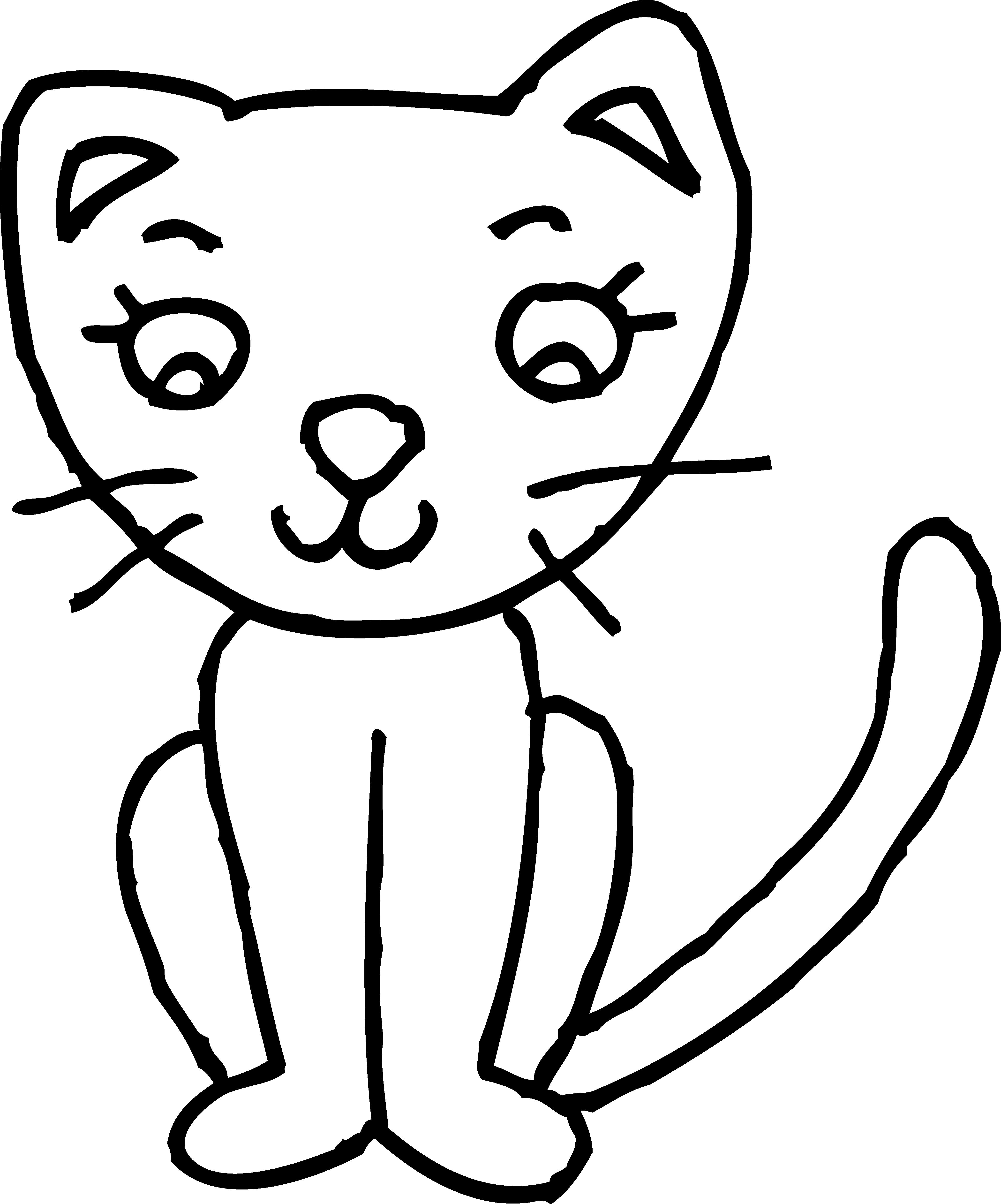 4137x4975 Sketch Clipart Cute Cat