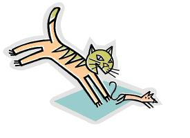 275x200 Cat Eating Mouse Clipart