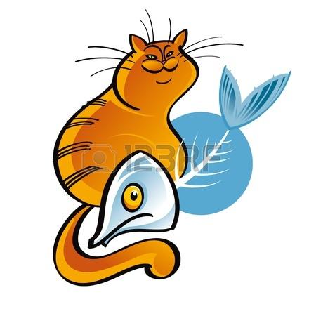 450x450 Cat And Fish Bone Animal Pet Food Royalty Free Cliparts, Vectors