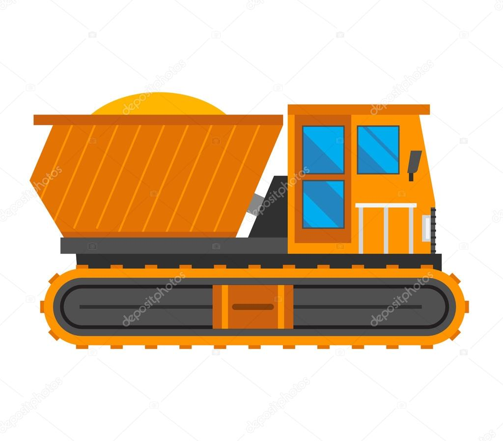 1024x897 Caterpillar Vehicle Tractor Vector Stock Vector Adekvat