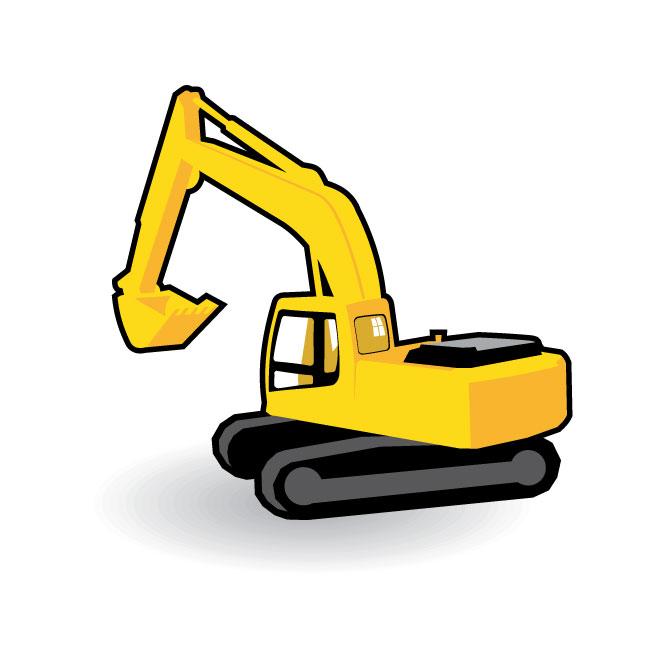 660x660 Excavator Clip Art