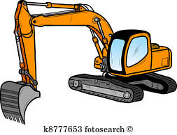 253x194 Excavator Clipart And Illustration. 5,218 Excavator Clip Art