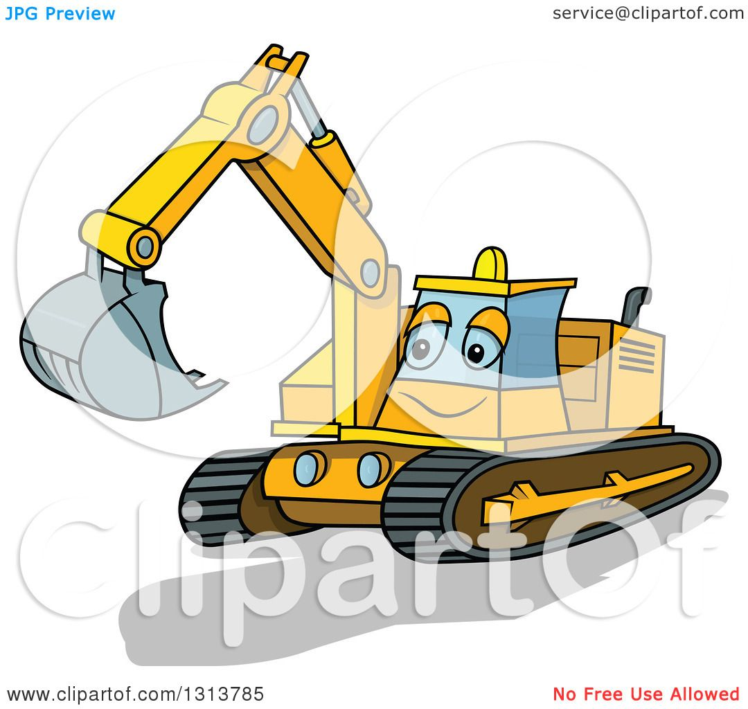1080x1024 Excovator Clipart Cartoon