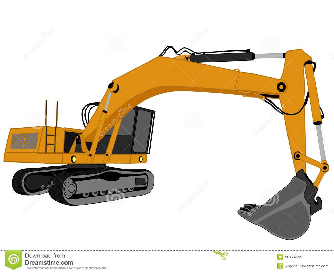 1300x1065 Vector Clipart Excavator
