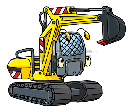 450x386 763 Caterpillar Excavator Stock Vector Illustration And Royalty