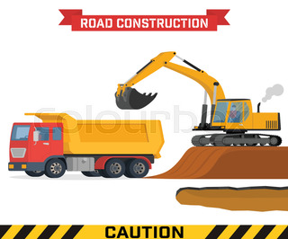 320x266 Vector Excavator End Bulldozer Isolated On White Stock Vector