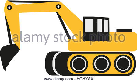 450x270 Excavator Symbol Stock Vector Art Amp Illustration, Vector Image