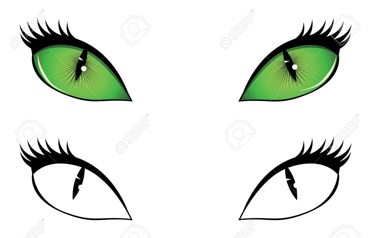 1300x835 Clip Art Cat Eyes Clip Art
