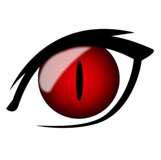 533x532 Red Eyes Clipart Anime Eye