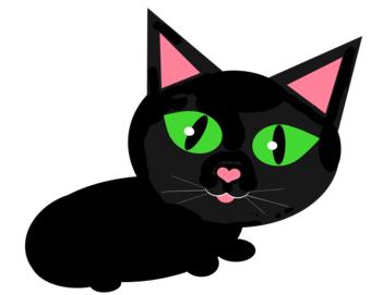 340x271 Black Cat Clipart Cat Eye