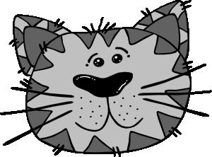 300x222 Cartoon Cat Face Clip Art