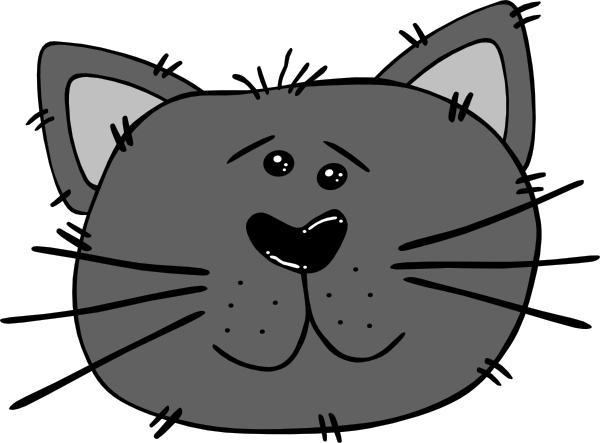 600x443 Cartoon Cat Face Clip Art Free Vector In Open Office Drawing Svg