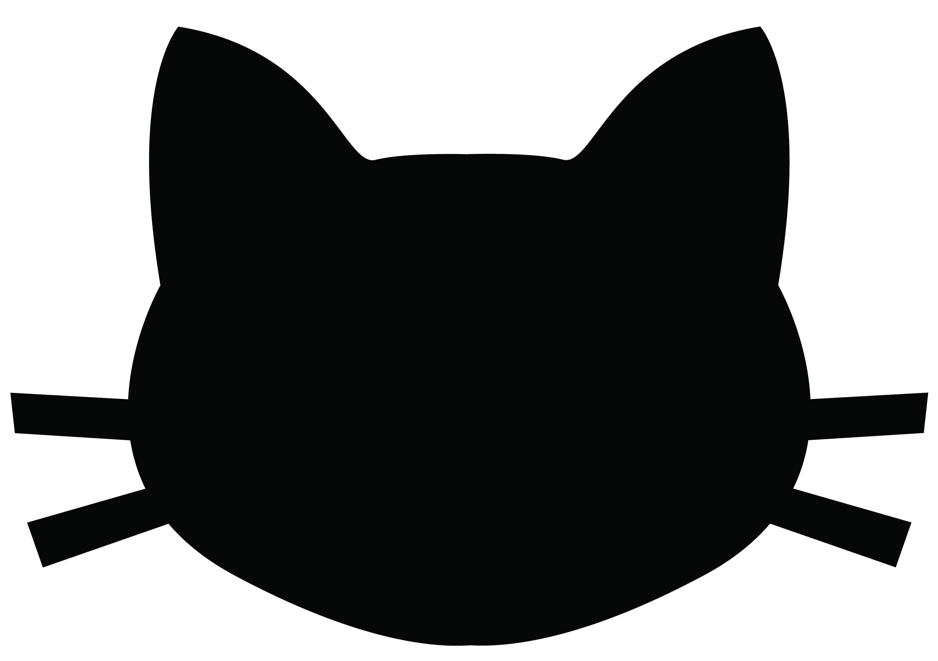 3600x2538 Cat Face Clipart