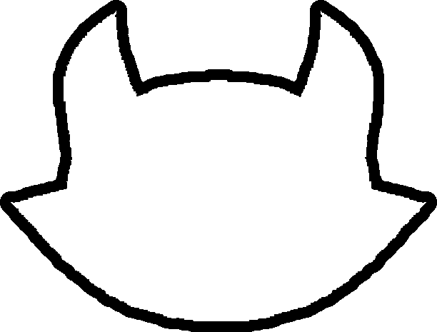 612x465 Cat Face Outline Clip Art (32+)