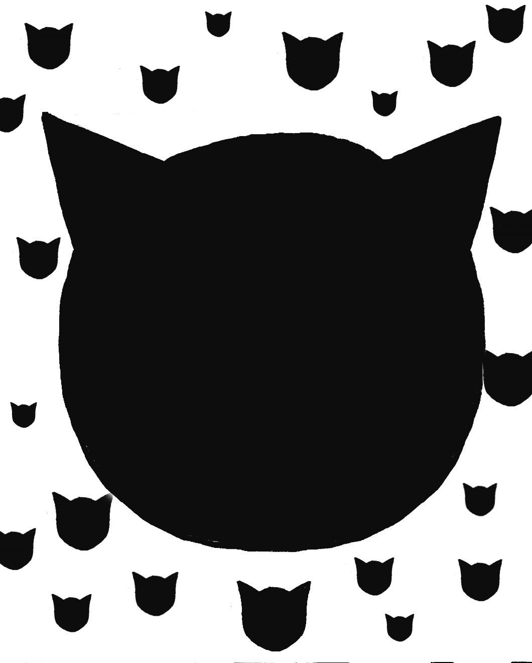 1060x1320 Cat Face Silhouette