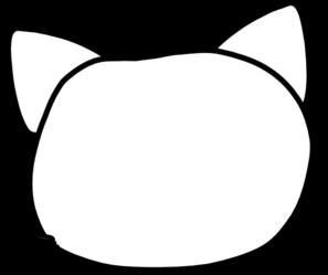 297x249 Cat Head Outline Clip Art
