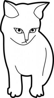 190x343 Cat Outline Clip Art Download 1,000 Clip Arts