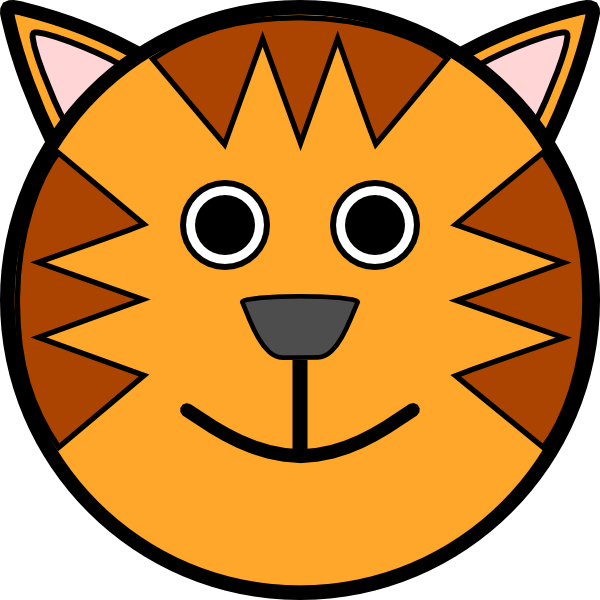 600x600 Cute Tiger Face Clip Art Clipart Panda