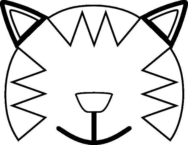 600x463 Totetude Cat Outline Face Clip Art