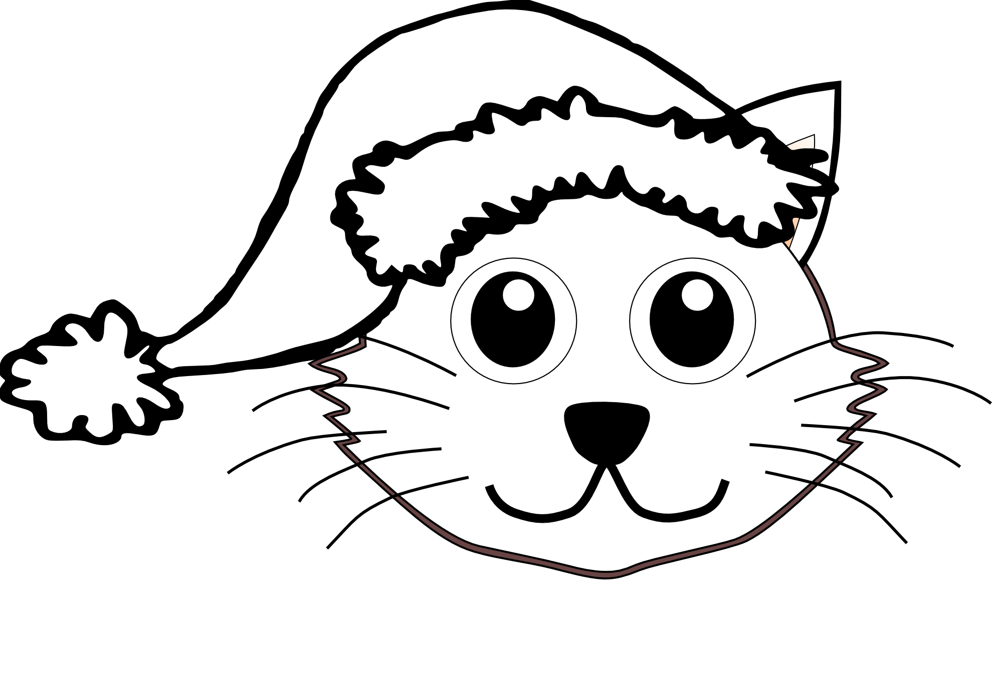 1979x1366 White Clipart Cat Face