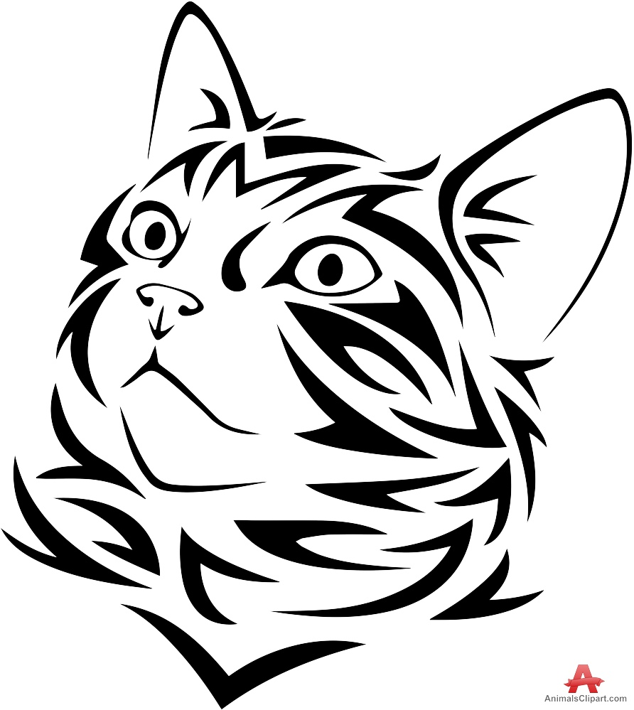 Cat Face Clipart Black And White Free Download Best Cat Face