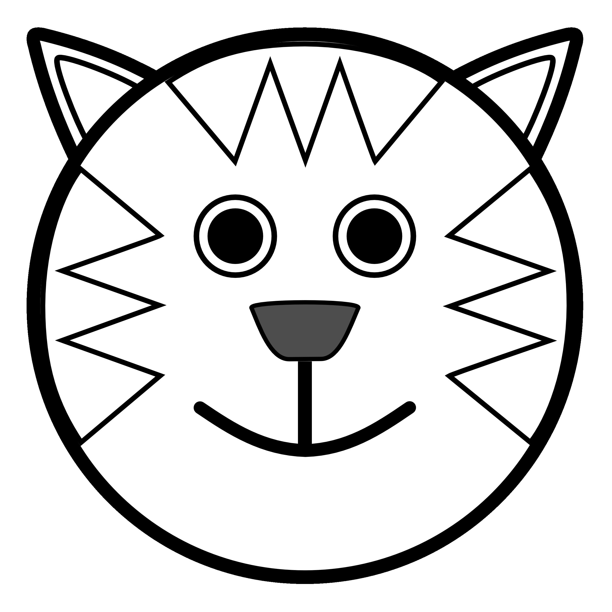 2555x2555 Black Cat Clipart Bear Face