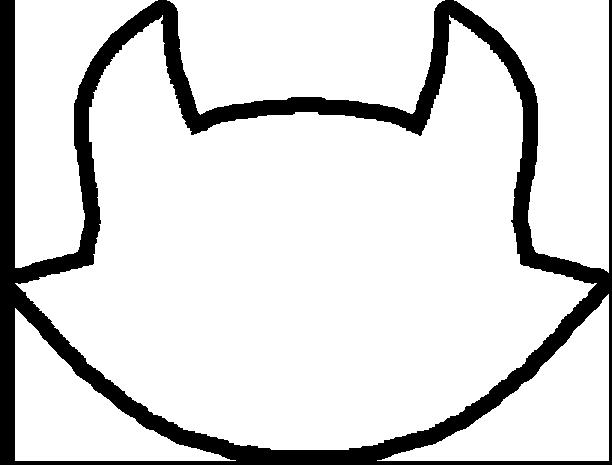 612x465 Cat Face Outline Clip Art