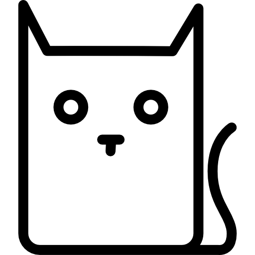 512x512 Cat Outline, Animals, Cat Variant, Cat Face, Cat, Cat Head Icon