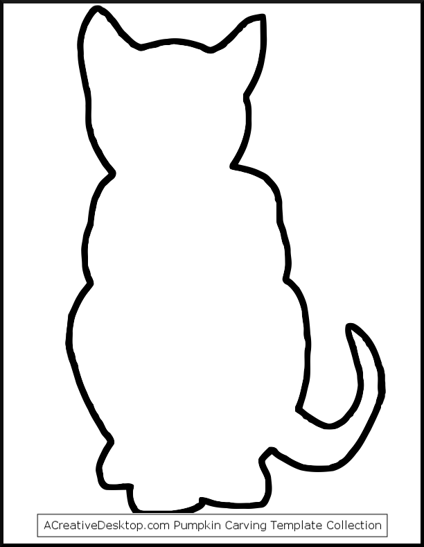 612x789 Outline Of Cat