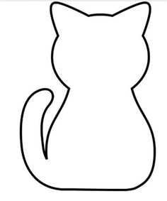 236x283 Sitting Cat Pattern. Use The Printable Outline For Crafts