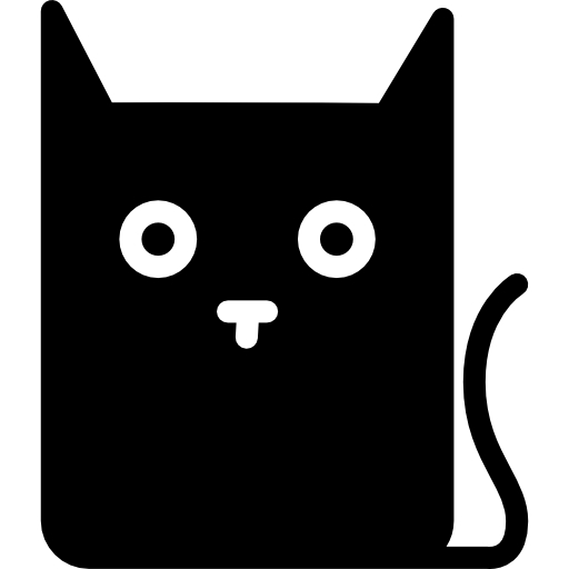 512x512 Cat Cartoon, Feline, Animals, Cats, Pussy Cat, Cat, Cat Outline Icon