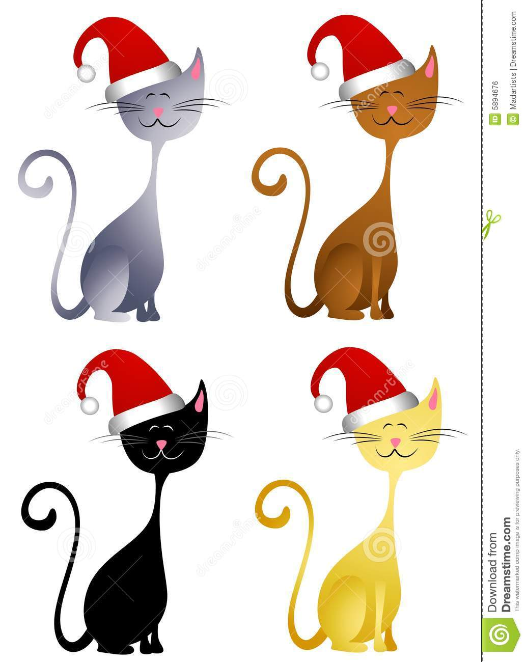 1035x1300 Cat Christmas Clipart