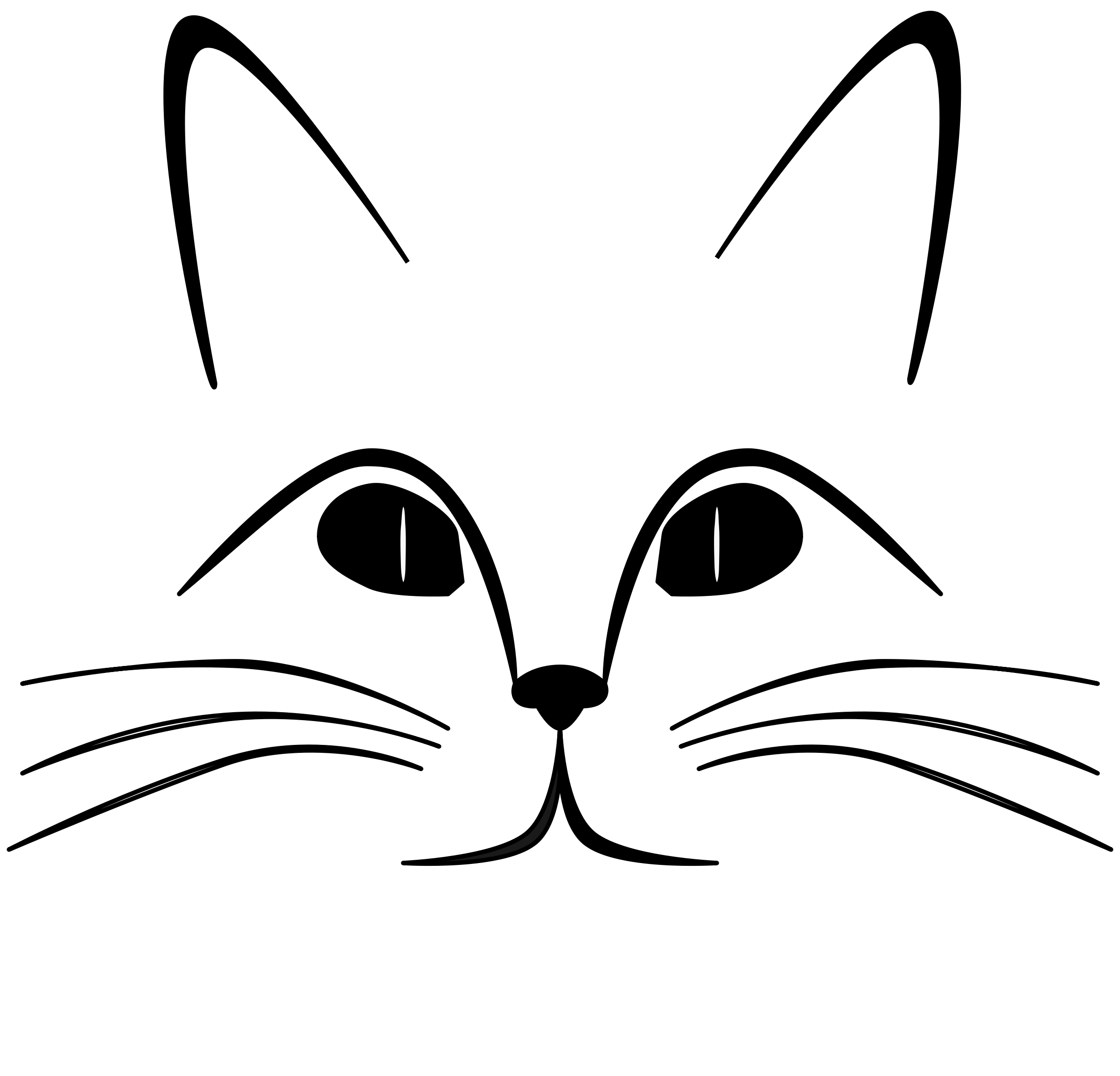 2400x2304 Cat Face Clip Art