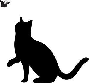 300x280 Free Cat Clip Art Image Clip Art Silhouette Of A Cat Pawing