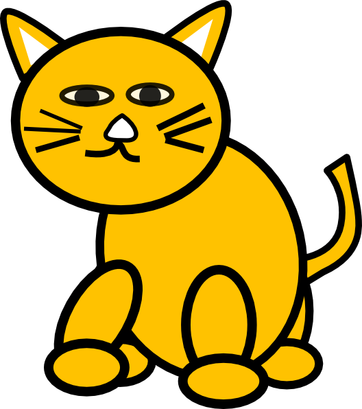 528x596 Yellow Cat Clipart, Explore Pictures