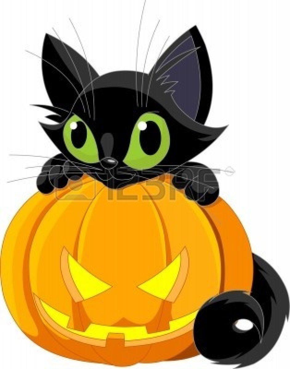 942x1200 Black Cat Halloween Clipart
