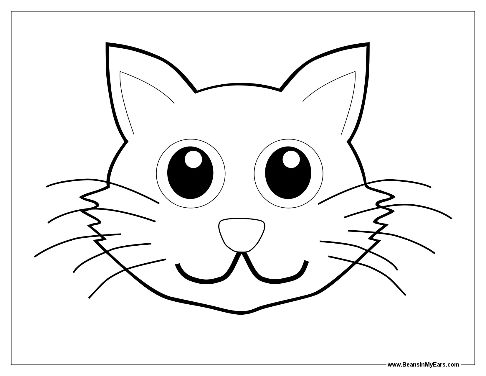 cat in the hat black and white clipart 18